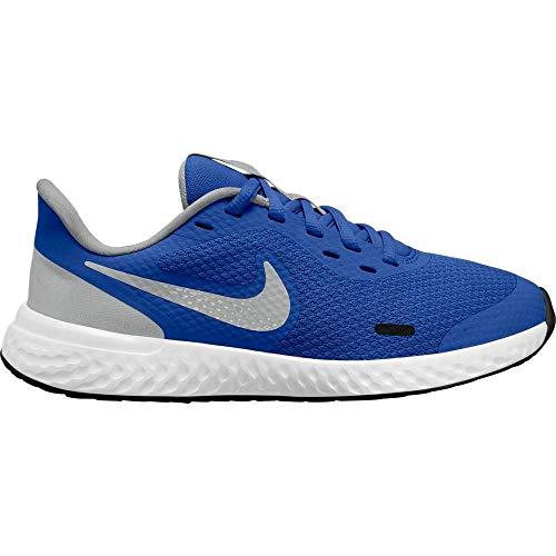 Nike Revolution 5 (GS), Zapatillas para Correr, Game Royal LT Smoke Grey White, 38.5 EU