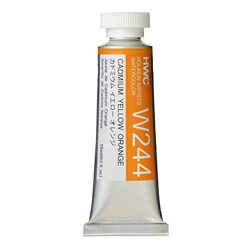 Holbein Artist's Watercolor 15ml Tube (Cadmium Yellow Orange) W244
