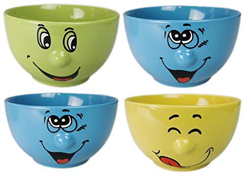 cm hoch 6st Porzellan Schüssel  Blau Neu Porzellan ca 19,5cm Durchmesser 7