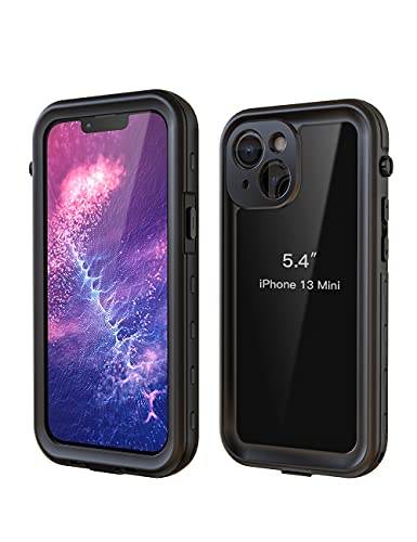 iPhone 13 Mini Waterproof Case, Fansteck Case with High Sensitive Touch and Built in Screen Protector, Full Body Heavy Duty Shockproof IP68...