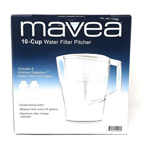 Mavea 10-Cup Water Filter Pitcher