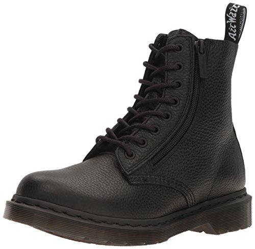 Dr. Martens Women's 1460 Pascal W/Zip Combat Boot, Black Aunt Sally, 10