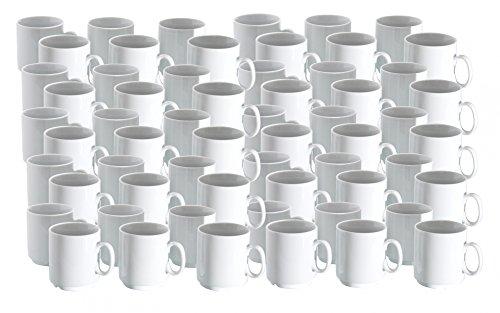 Frank van well ensemble de porcelaine de gobelets empilables profi 280 ml blanc