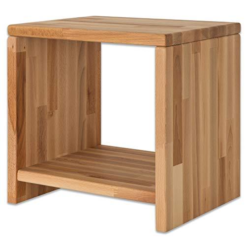 Bubema Nachttisch Marco, Buche Massivholz Farbe Natur geölt
