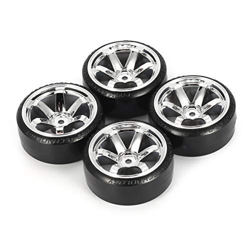 Logicstring Juego De Neumáticos Duros De 4 Uds De Plástico Duro RC Drift para Traxxas Hsp Hpi RC, Piezas De Repuesto para Vehículos De Carretera A La Deriva
