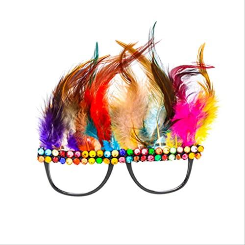 NKNVO Gafas De Plumas Navidad Halloween Gafas Divertidas Fiesta De Cumpleaños Gafas De Sol Gafas De Pasarela