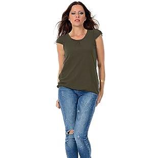 Customer reviews 3Elfen Summer Woman T-Shirt Puff Sleeve Designer Shirts Girls Cloth - Oliv 4XL:Netac2