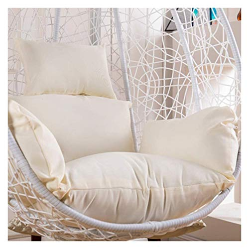 LLNN Home Decoration Swing Chair Cushion Waterproof Thicken Hanging Egg Hammock Chair Cushion Patio Swing Chair Cushion Wicker Rattan Hanging Basket Seat Cushion Hanging Basket Furniture Cushion