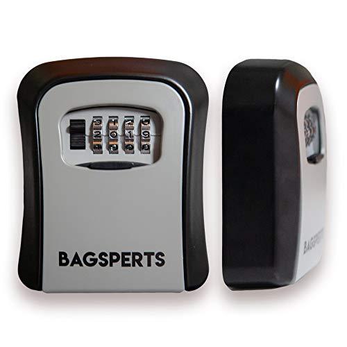 BAGSPERTS™ Premium Schlüsseltresor (Version 2019) | 4-stelliger Code individuell verstellbar | Einfache Montage des Schlüssel-Safe | Deine Neue Schlüssel-Box mit 6 Monate Garantie
