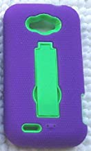 NP CITY Phone Cover Armor Case for ZTE Savvy Z750c / ZTE Reef N810 (sPURPLE/Green AR)