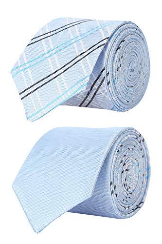 Van Heusen Men's Synthetic Tie (VHTIBRGFF000182_Blue_Free Size)