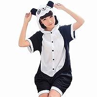 夏向け着ぐるみ パンダ着ぐるみ キャラクター ルームウェア 仮装 半袖(XL(174CM-178CM), パンダ)