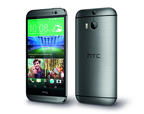 HTC One (M8) Smartphone (12,7 cm (5 Zoll) LCD-Display, Quad-Core, 2,3GHz, 2GB RAM, 5 Megapixel Frontkamera, FM-Radio, Android 4.4.2) metallgrau - [T-Mobile-Branding]