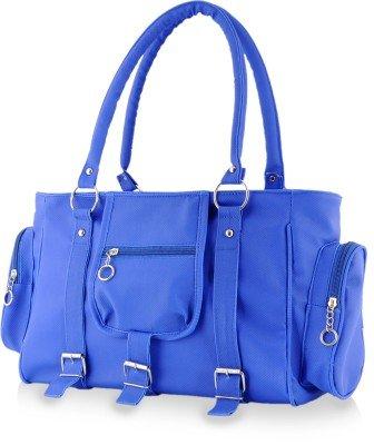 Naaz Bags Collection Women 3 Belt Polyester Hand Bags - Blue NBC-ROCB14
