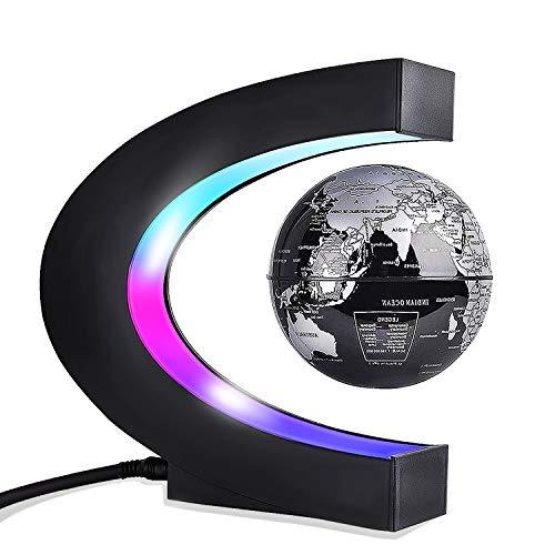 Globo C levitazione Magnetica a Forma di Sfera Galleggiante Globe World Map Regalo Galleggiante LED-Casa,Ufficio,Scrivania da Classe,d'Affari Decorazione