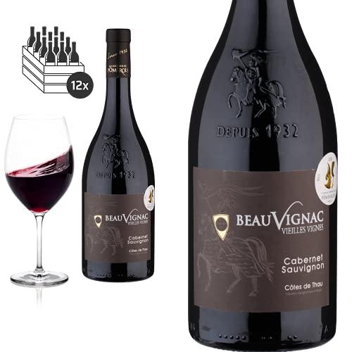 12er Karton 2019 Cabernet Sauvignon Vieilles Vignes Beauvignac von Costières de Pomerols - Rotwein