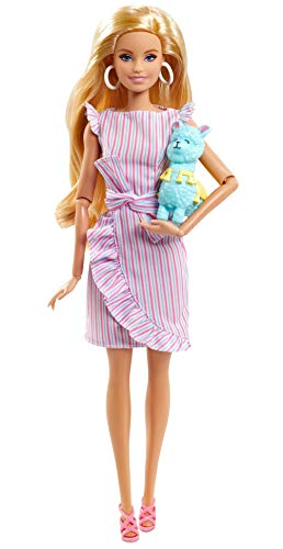 Barbie Tiny Wishes Doll (11.5-inch Blonde) Collectible Doll in Wrap Dress and Accessories
