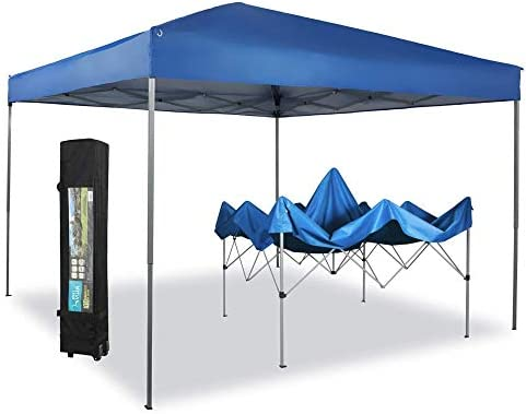 PHI VILLA 10 x 10ft Portable Pop Up Canopy Event Tent Party Tent 100 Sq Ft of Shade Blue product image