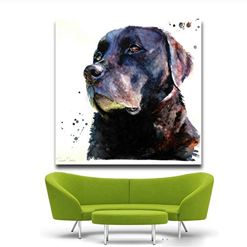 YangMENGDAN Canvas Painting Top Artist Prints Painting Kaarten van dierlijke olie op canvas French Bulldog Oil Painting Picture-50x50cm No Frame