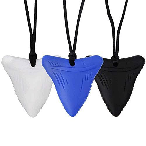 3 pz Dente di Squalo Sensoriale Chew Collana Per Bambini Dentizione Giocattolo Autismo Massaggiagengive