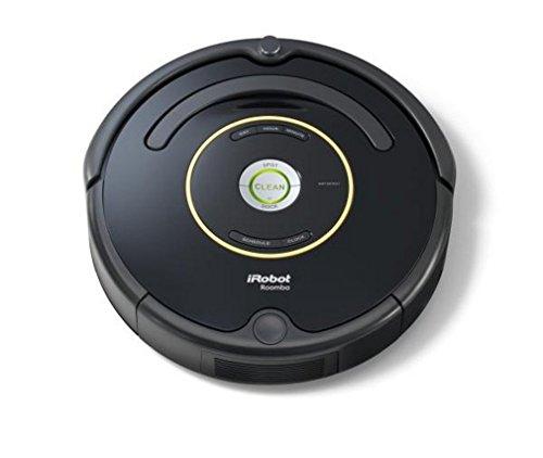 iRobot Roomba 650 Aspirateur Robot, système de nettoyage puissant avec Dirt Detect, aspire tapis, moquettes et sols durs, idéal pour les poils d'animaux, nettoyage sur programmation, noir