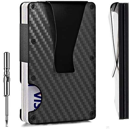Minimalist Carbon Fiber Wallet for Men | Rfid Blocking Wallet Up to 12...