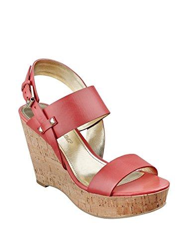 Ivanka Trump Women's Gareno Leather Platform Wedge Sandals (9.5 B (M) US, Orange)