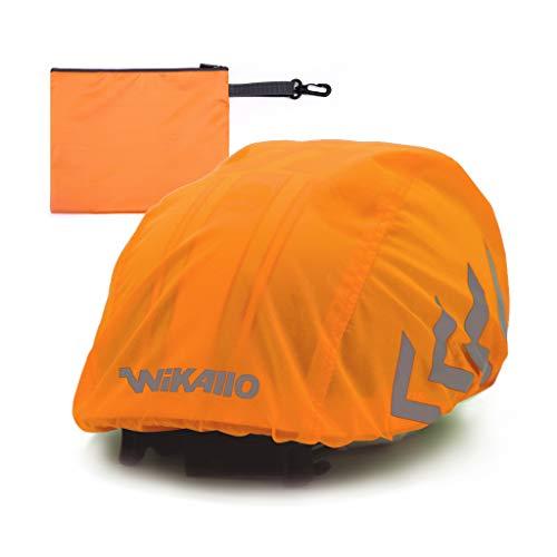 WIKALLO® - Protector Impermeable para el Casco de Bicicleta con reflectores, Impermeable,...