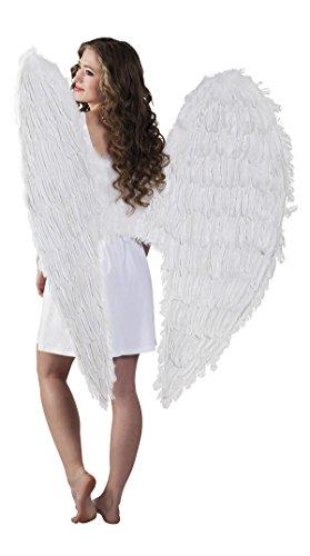 TH-MP Weiße Engelsflügel 120 x 120 cm Federflügel Engel