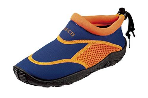 BECO Badeschuhe / Surfschuhe für Kinder blau/orange 25
