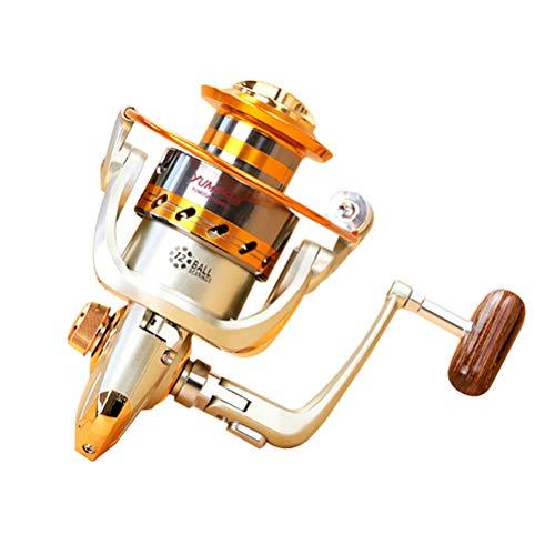 Creamon Outdoor Aluminium Baitcastingreel Fisch Angelgerät fishingaccessorie, New Spool Aluminium Spinning 12BB 500-6000Series 5.5: 1 Fliegen Angelrolle Baitcasting Angelrollen Salzwasser Okuma 2000