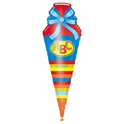 Miss Lovely XXL Folien-Ballon Schul-Tüte Schul-Anfang Raum-Deko/Dekoration Schul-Anfang/Erster Schultag/ABC-Schützen/Einschulung Junge & Mädchen