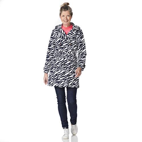 HappyRainyDyas Trenchcoat Marit Zebra Middernacht/Uit Wit, Maat L