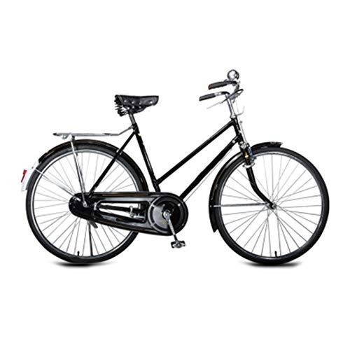 TWW Bicicleta Retro Bicicleta para Hombres, Mujeres, Viajero, Vintage, Bicicleta para Adultos, 28 Pulgadas, Tradicional, Mango Plano, Retro, Bicicleta De Carga Pesada,1