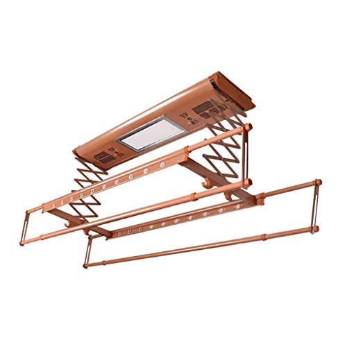 FMOGE Wäschetrockner,Zusammenklappbarer Intelligenter Wäschetrockner Mit Led-Beleuchtung, Multifunktionaler Balkon Smart Wäschestange Teleskopfernbedienung Wäschetrockner