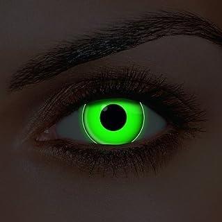 670c7e1b7d Lentes de contacto de color verde UV – Ideal para Halloween, carnaval o  noche de