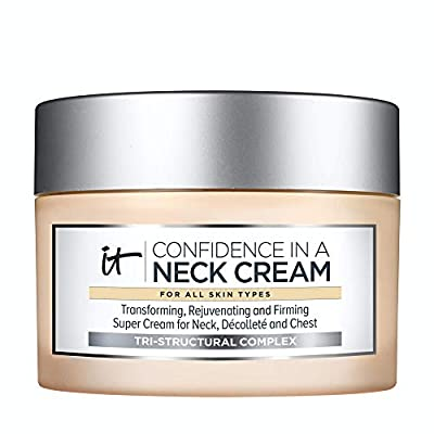 IT Cosmetics Neck Cream Trust - Anti-Aging & Firming Moisturizer - Reduces the Appearance of Neck Lines, Tightens & Smooths It Cosmetics - With Collagen & Hyaluronic Acid - 2.6 fl oz