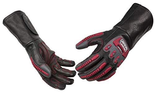Lincoln Electric Roll Cage Welding/Rigging Gloves | Impact Resistant | Black Grain Leather |