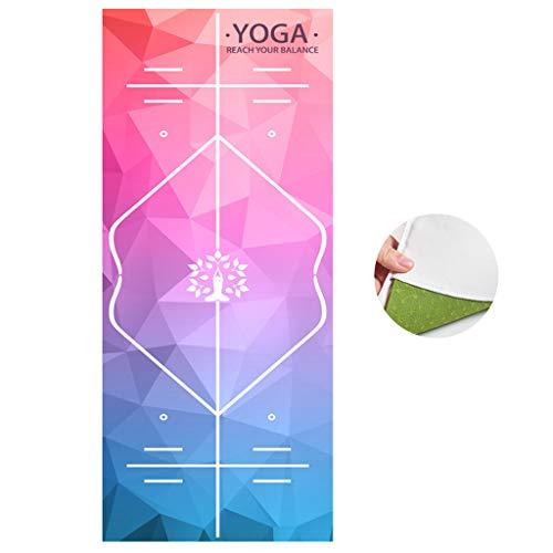 Houstory Toalla de Yoga Antideslizante, Supersuave, Absorbente de Sudor, Manta Yoga Microfibra Deporte Ultradelgado, Plegable, portátil Toalla para Esterilla de Yoga