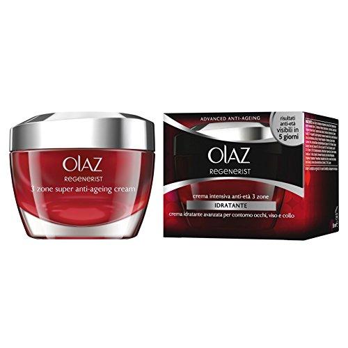 Olaz - Crema Intensiva Anti-Età, 3 zone, Idratante - 50 ml