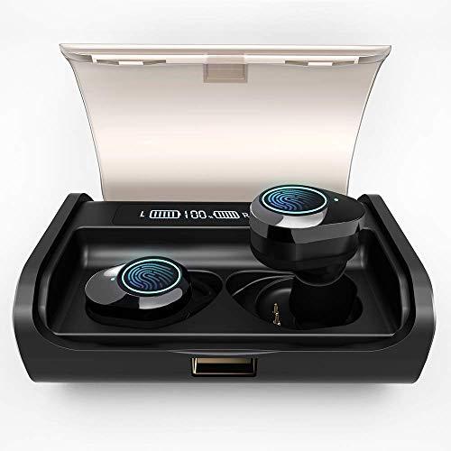 AIDERLOT Bluetooth Kopfhörer in Ear,Kabellose Kopfhörer mit 130 Stunden Spielzeit,IPX6 Wasserdicht,Eingebaut doppelmikrofon Geräuschunterdrückung,3D Stereo,Bluetooth 5.0,Smart LCD Digitalanzeige