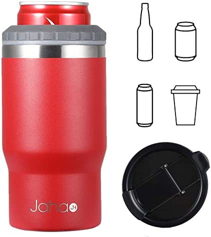 Jahao 4 in 1 Can Cooler Tumbler Stainless Steel Double Wall Vacuum Insulated Beer Cooler Can product image