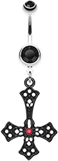 Best upside down cross belly ring Reviews