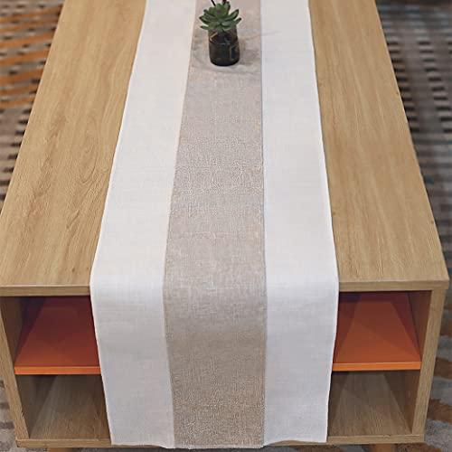 Eushine Runner da Tavolo in Materiale di Canapa Annodato in bambù, Utilizzato per la Decorazione di Interni in Stile Naturale retrò, Riunioni di Famiglia, Matrimoni, Decorazioni per Hotel, 180 * 30cm