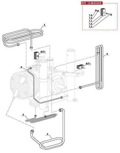 HTD Ventola di Raffreddamento 1 a 2. Fase per compressore dell'Aria MCH6 Coltri.