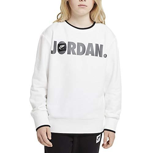 Nike Jordan Felpa da Ragazzo Girocollo Jumpman Bianca - 95A295-001 (XL)