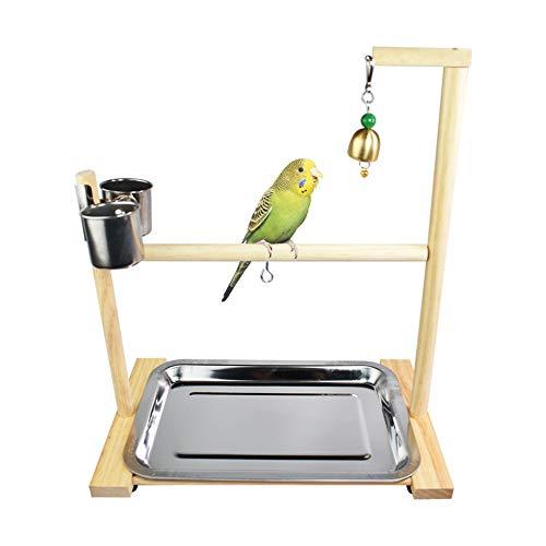 QinWenYan Vogelschaukel Tragbare Tiger Parrot Ständer Schreibtisch Trainingsbank Parrot Spielzeug-Vogel-Massivholz Stärken Sie die Muskeln der Vögel (Color : Multi-Colored, Size : B)