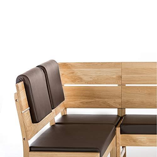 Amazon Marke -Alkove - Hayes - Moderne Eckbank mit gepolsterter Sitzfläche, Wildeiche - 2