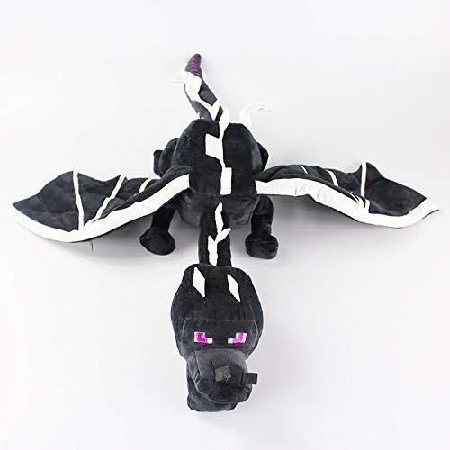 hhuanxiao Plüschtier 60cm Meine Welt Ender Dragon Plüsch Spielzeug weiche Schwarze Enderdragon PP Baumwolle Drachen Spielzeug Children Gift