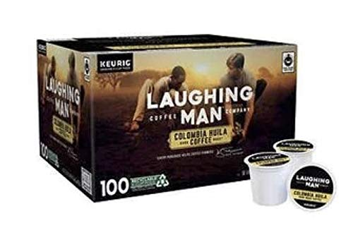 Laughing Man Colombia Huila Dark Roast Coffee K-Cups, 100 Count
